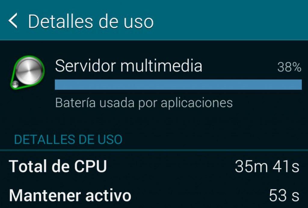 Problema con el servidor multimedia en el Galaxy S5