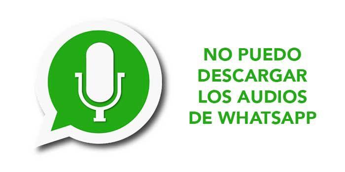 Problema descargar notas de voz WhatsApp