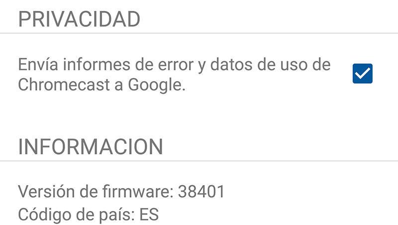 Problema firmware 38401 Chromecast