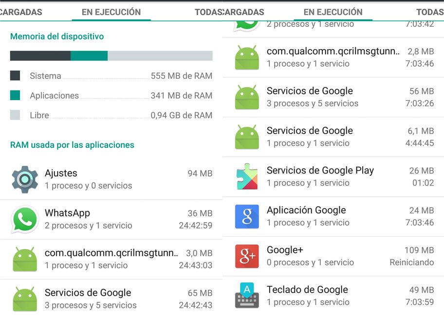 Problema memoria RAM Android 5