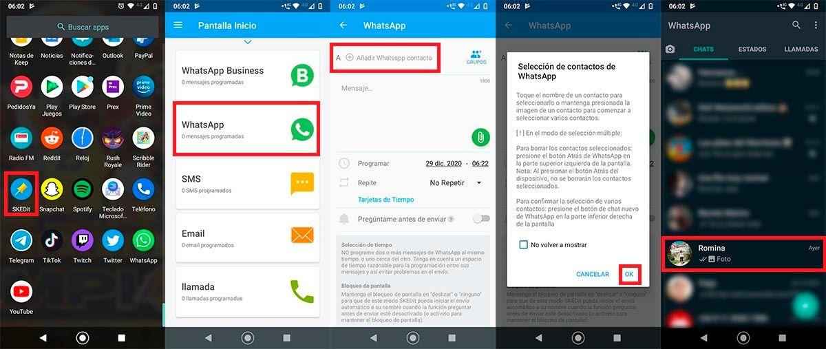 Programar felicitaciones Fin de Año en WhatsApp