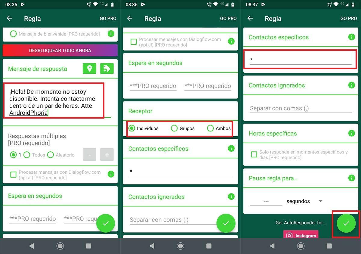 Programar mensaje automatico WhatsApp