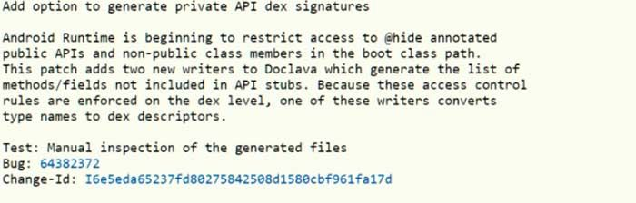 Prohibir APIs ocultas Android P