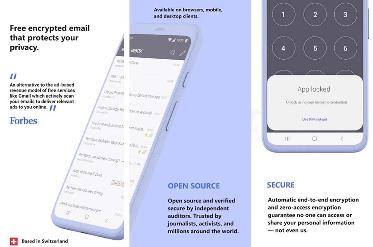 Proton Maill una alternativa a Gmail para Android e iOS