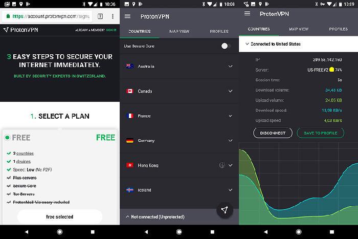 ProtonVPN para Android