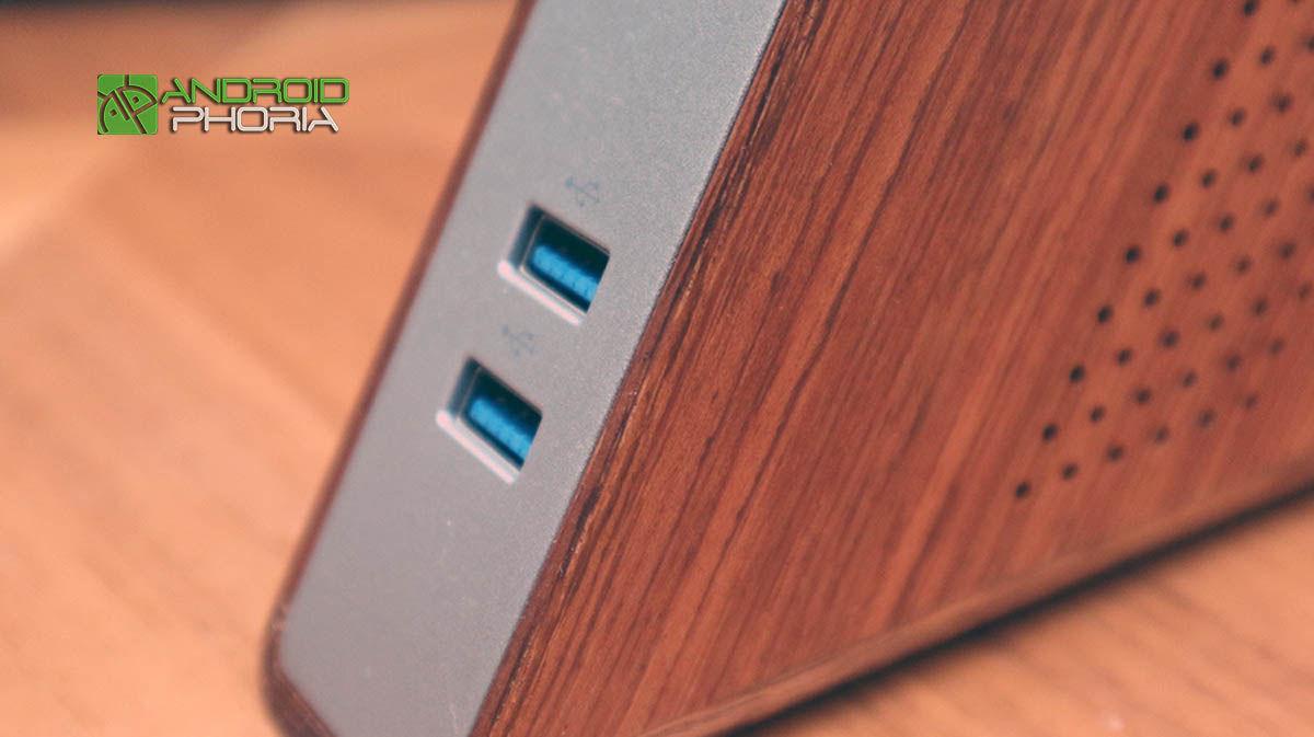Puertos USB Acute Angle