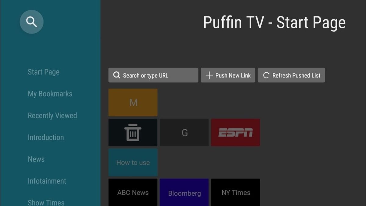 Puffin TV navegador Android