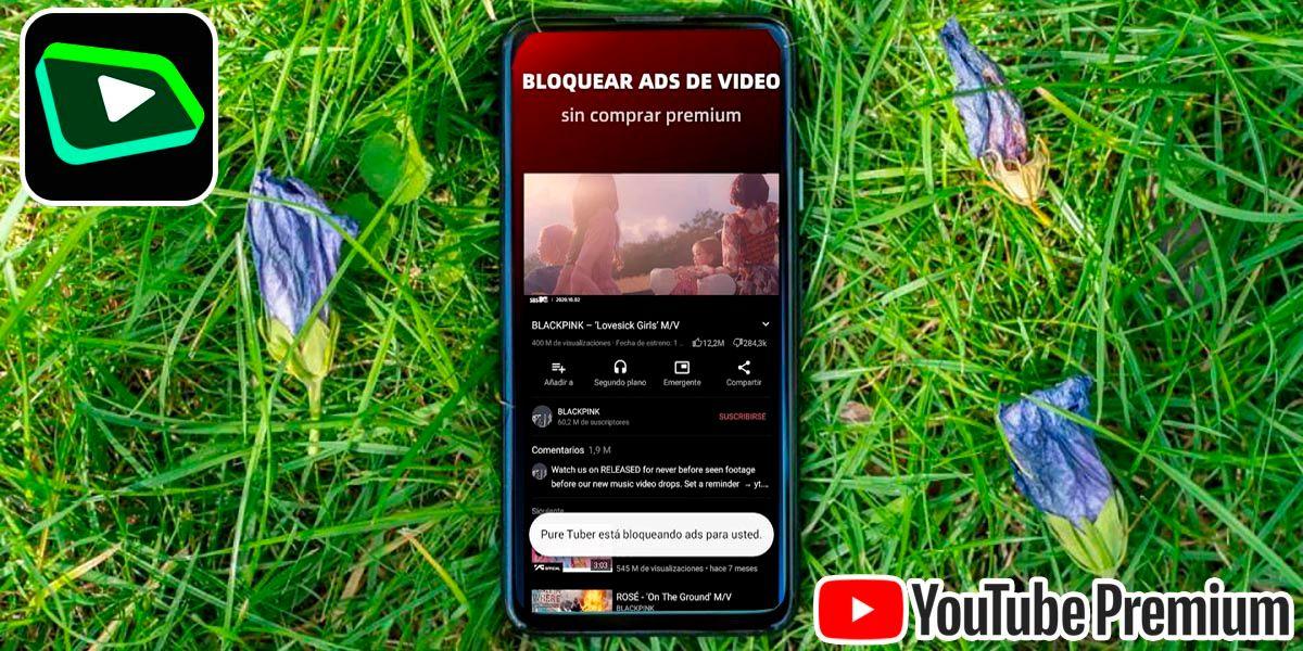 Pure Tuber app para tener YouTube Premium gratis