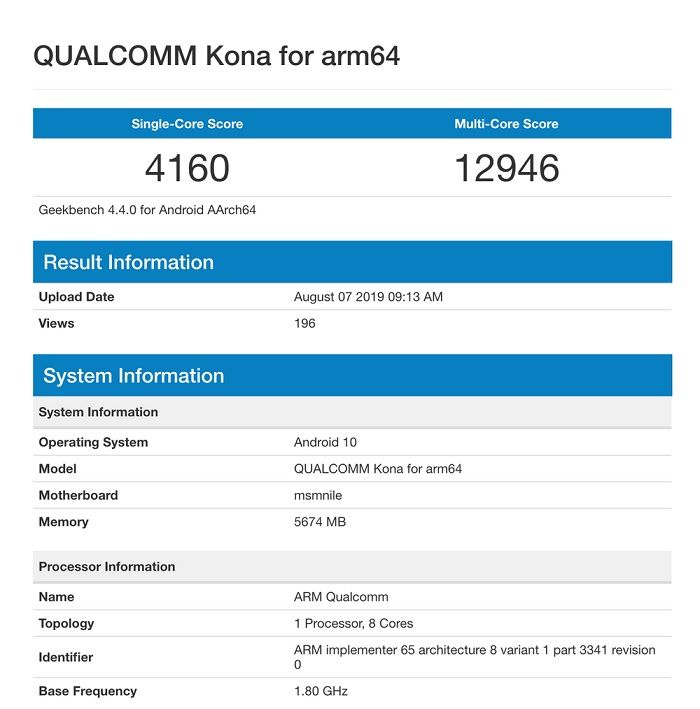 Qualcomm Snapdragon 865 especificaciones