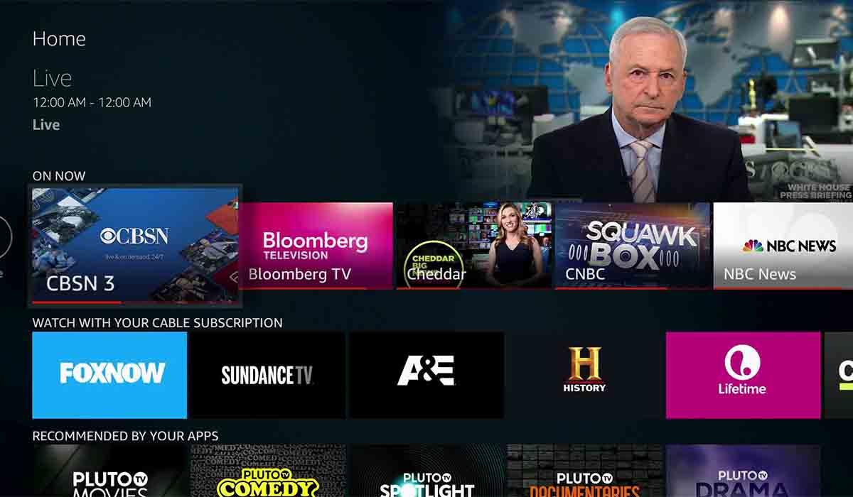 Qué canales tiene Pluto TV