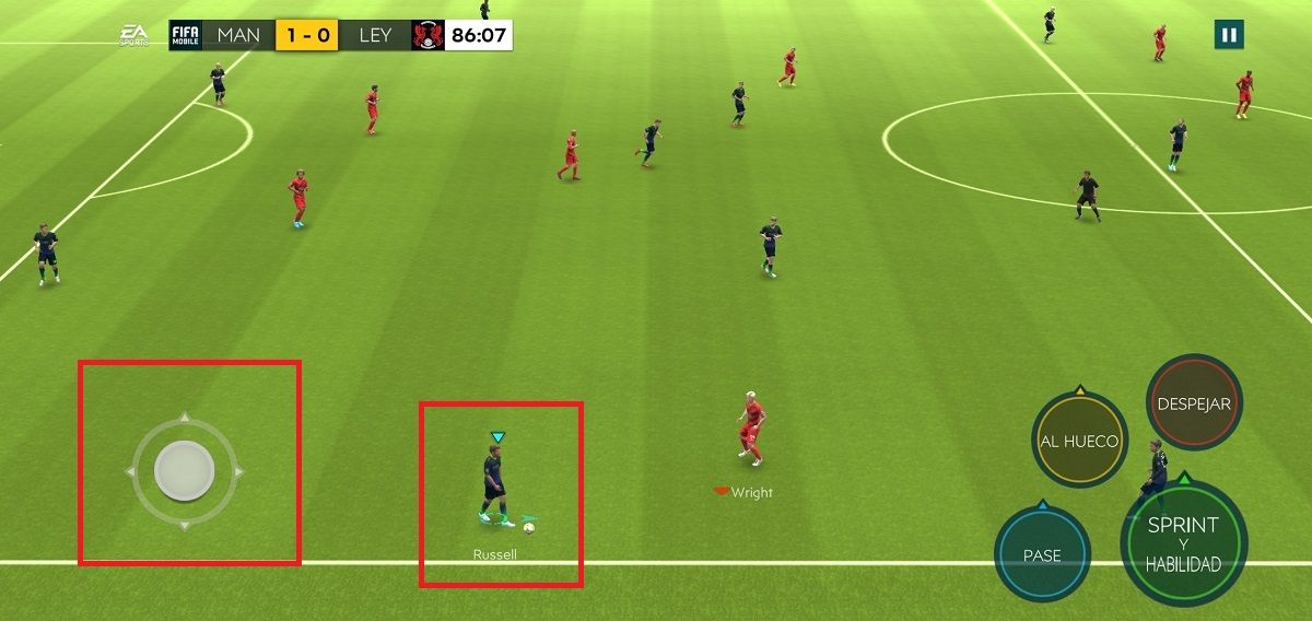 Quedarse estatico FIFA Mobile
