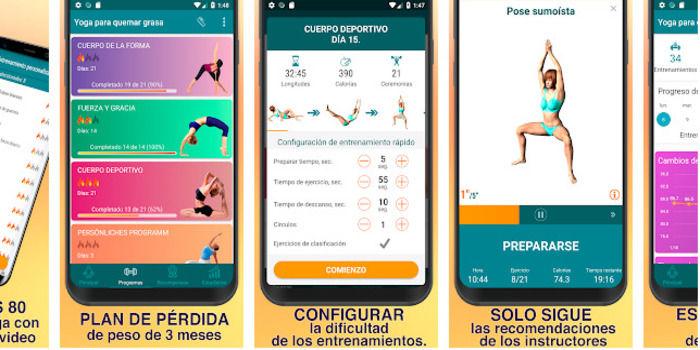 Quemar grasas con yoga app desde casa