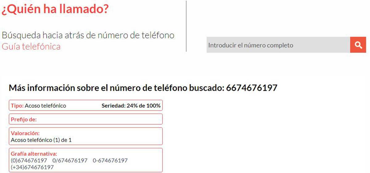 Quien te ha llamado web para la busqueda inversa de numeros telefonicos