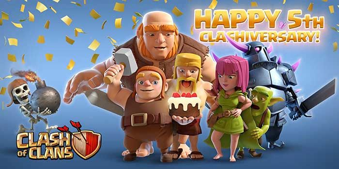 Quinto aniversario Clash of Clans