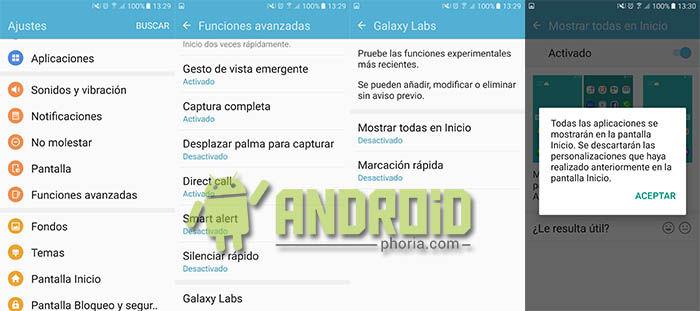 Quitar cajon aplicaciones Galaxy S7