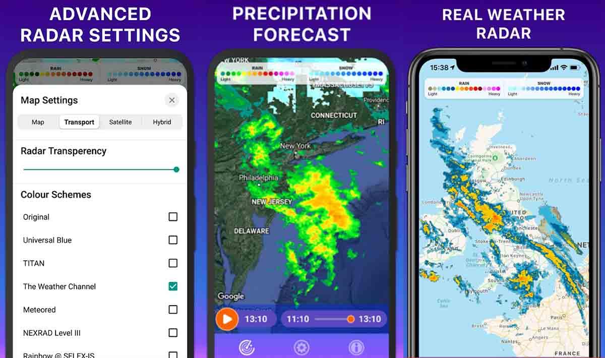 Rain RADAR alarma de lluvia
