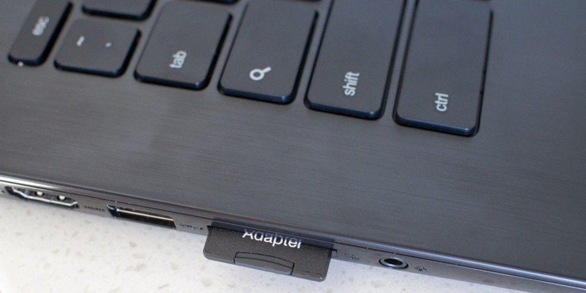 Chromebook: Ranura SD