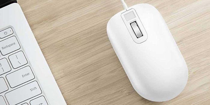 Raton con lector de huellas dactilares de Xiaomi