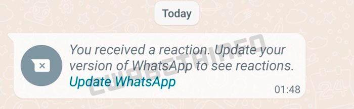 Reaccionar a los mensajes de WhatsApp