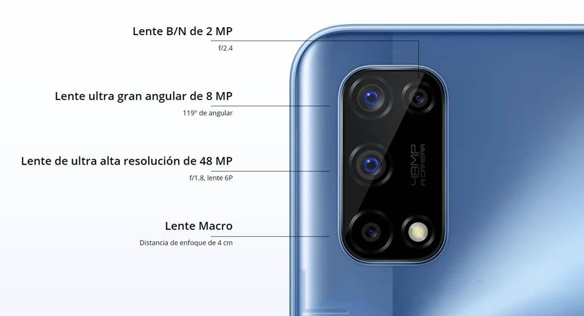 Realme 7 5G cámaras traseras