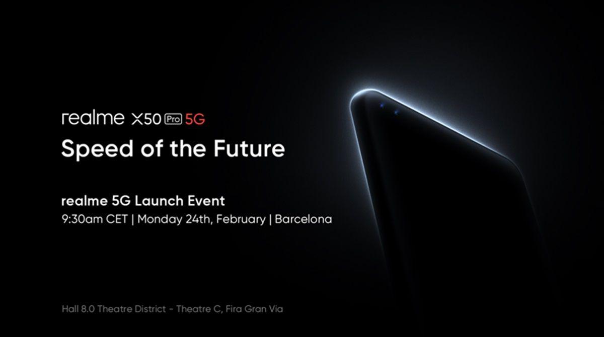Realme x50 pro 5g presentacion mwc 2020