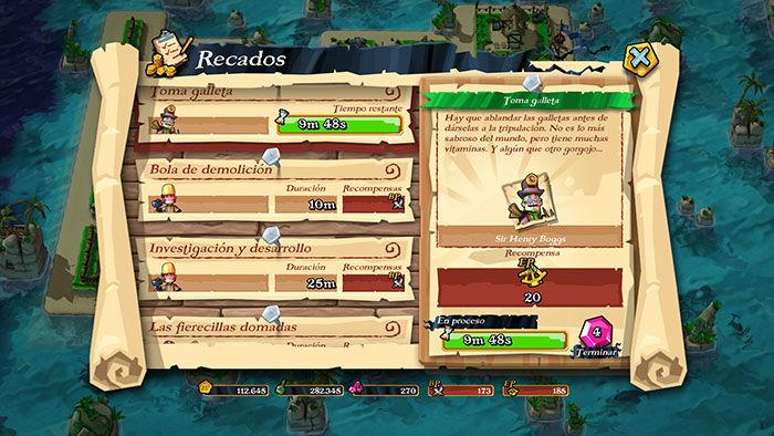 Recados en Plunder Pirates
