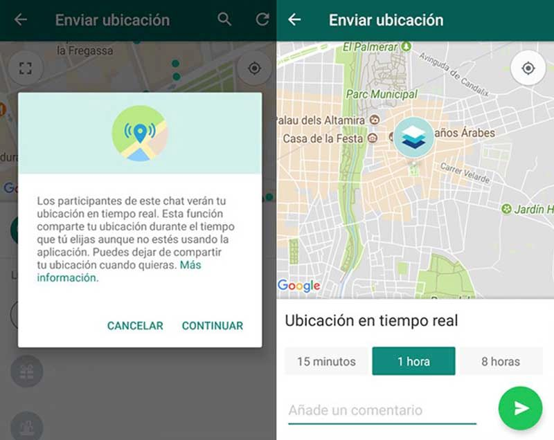Recibir ubicacion WhatsApp