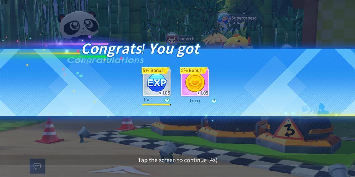 Recompensas EXP