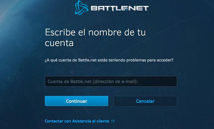 Recuperar cuenta Battlenet