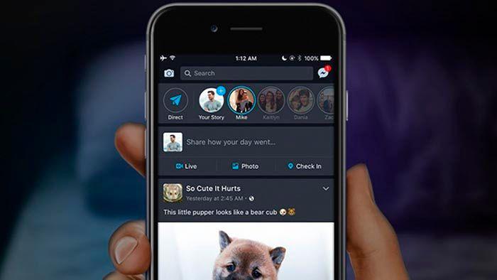 Recuperar modo oscuro Facebook iOS