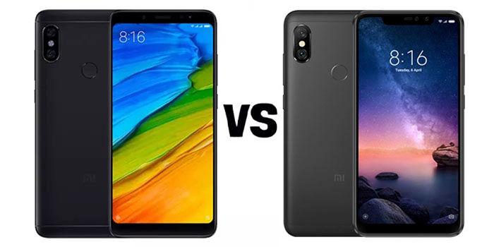 Redmi Note 5 vs Note 6 Pro