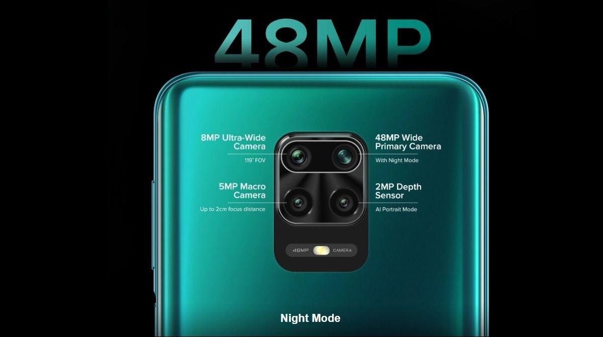 Redmi Note 9 Pro, camara cuadruple
