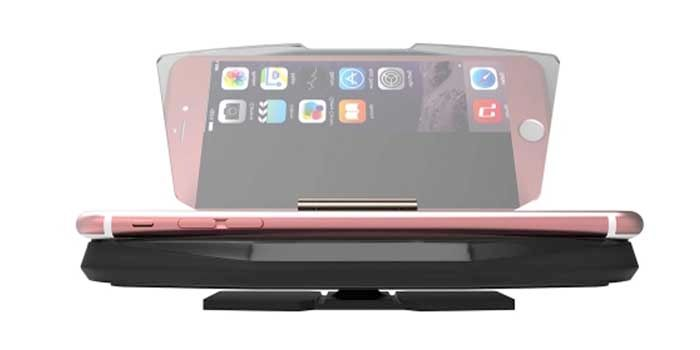 Reflejo pantalla móvil con soporte
