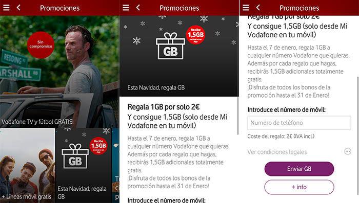 Regalar GB App Vodafone