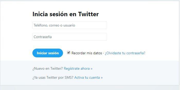 Registrarse en Twitter sin smartphone
