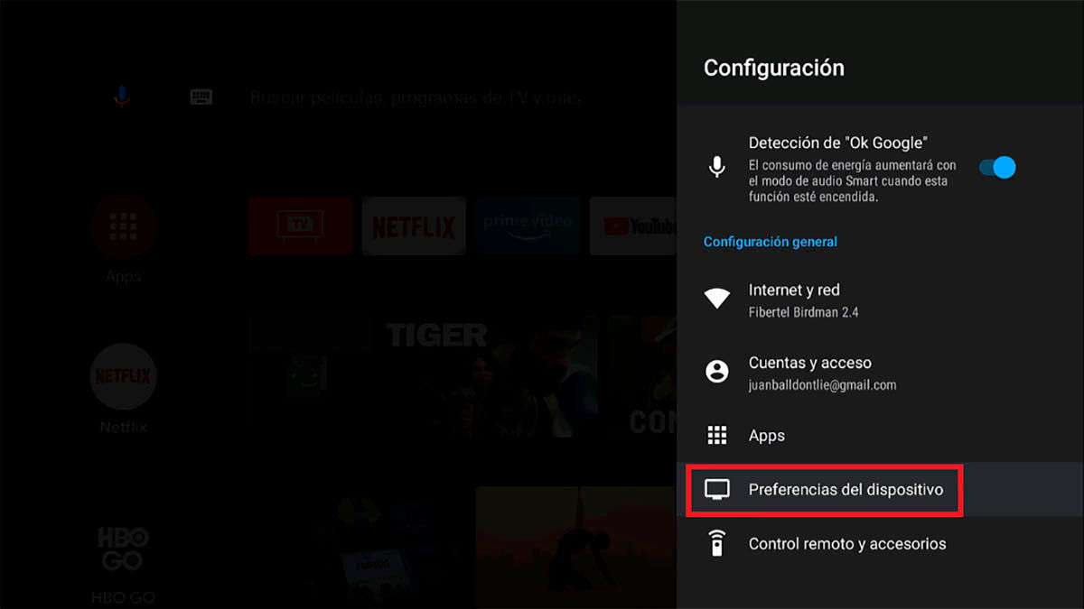 Reiniciar un Android TV