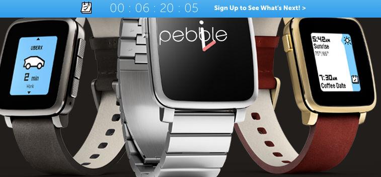 Reloj circular de Pebble