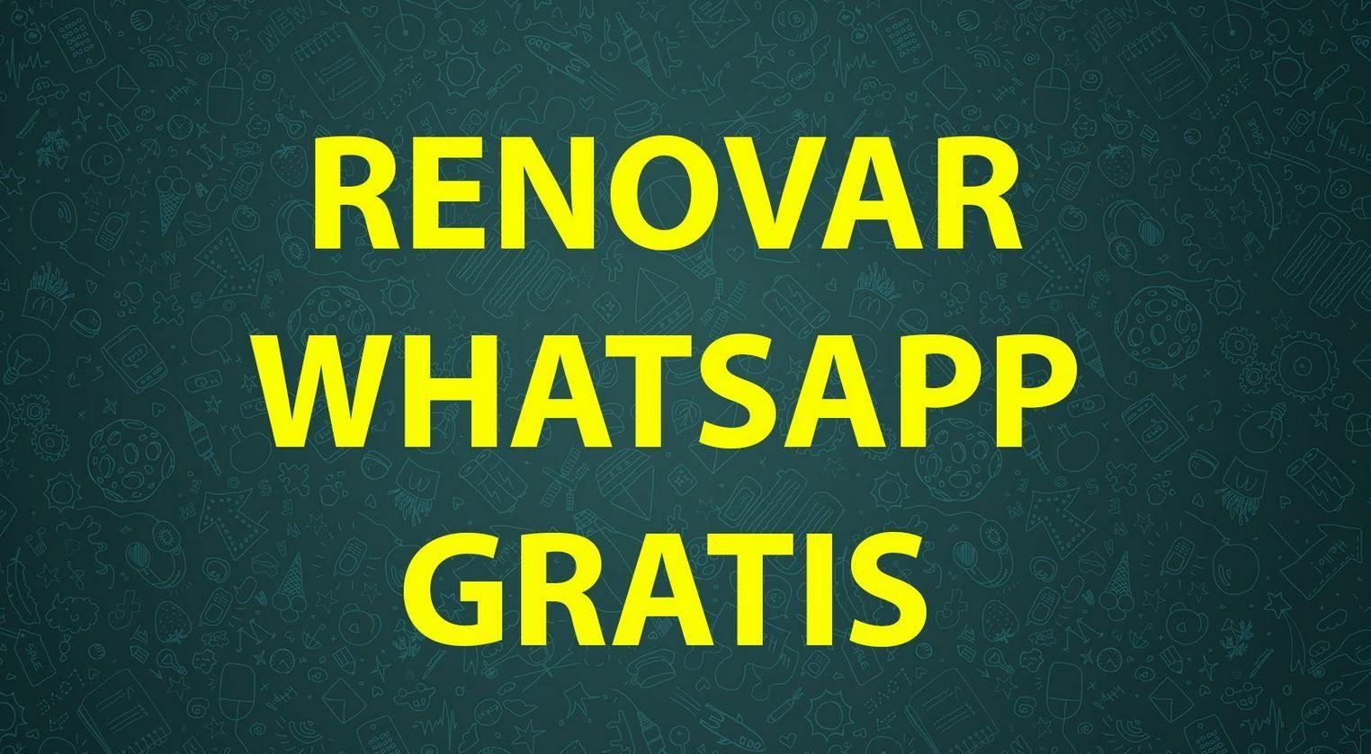Renovar WhatsApp gratis