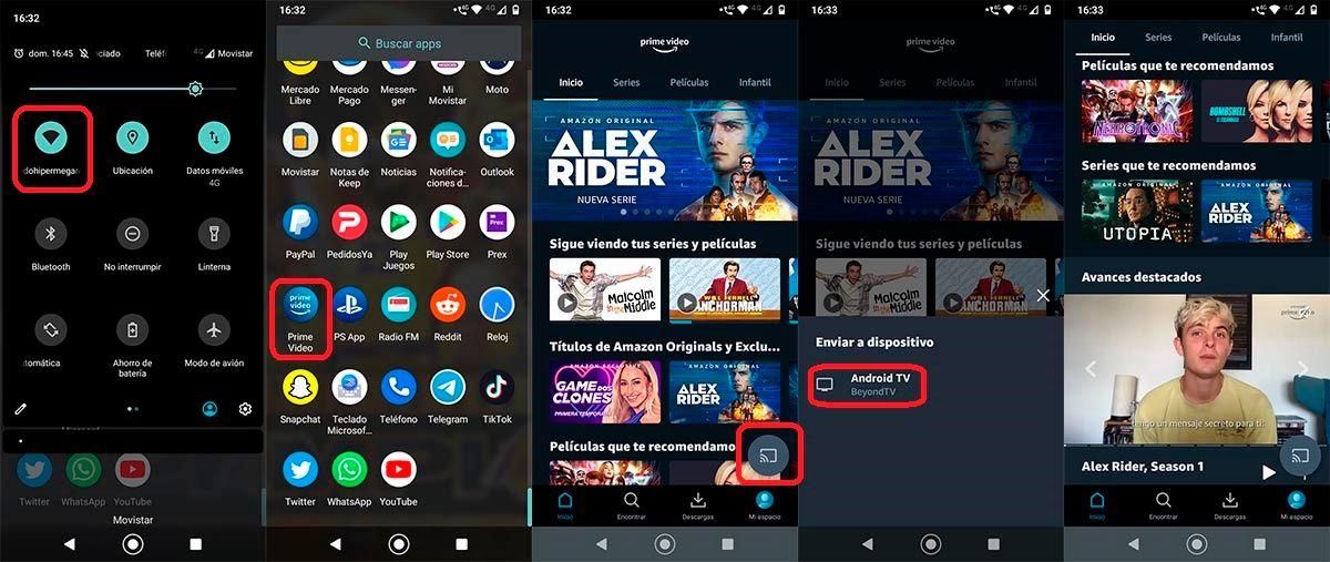Reproducir contenido del movil en Android TV Prime Video
