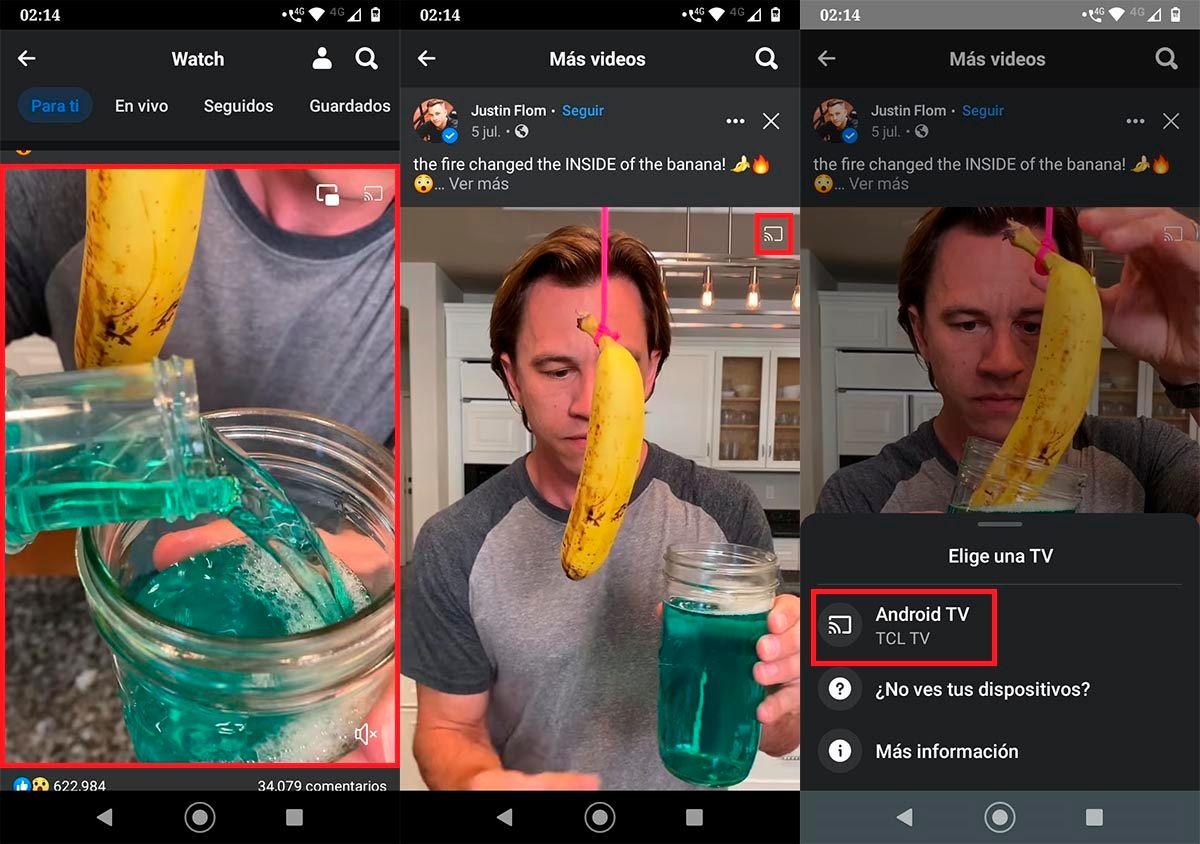 Reproducir video de Facebook en Android TV