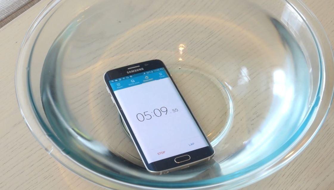 Resistencia al agua del Galaxy S6 Edge
