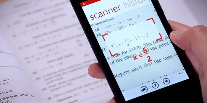 Resolver problemas matemáticos con cámara del móvil