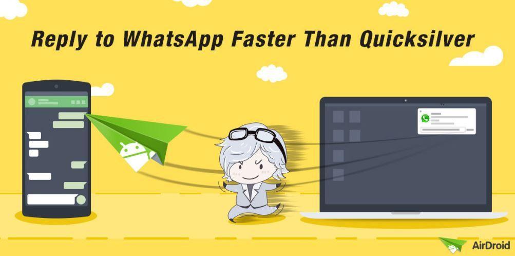 Responder mensajes de WhatsApp desde AirDroid