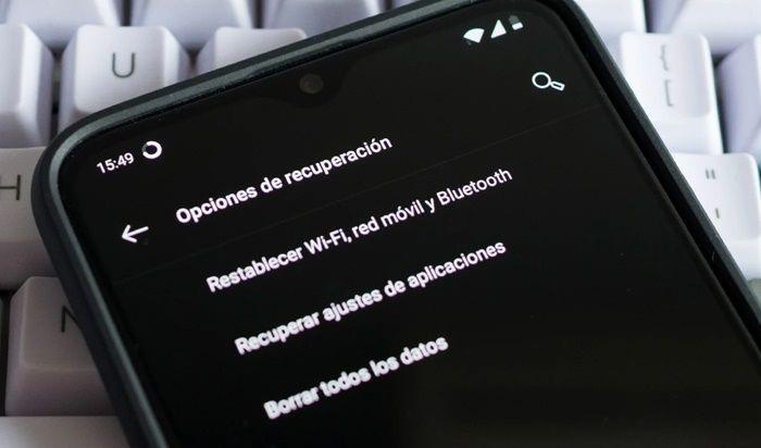 Restablecer los ajustes de Android