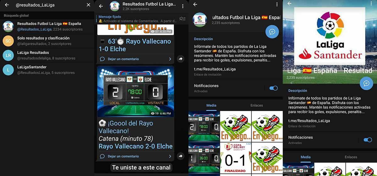 Resultados Futbol La Liga sigue a tu equipo sin salirte de Telegram