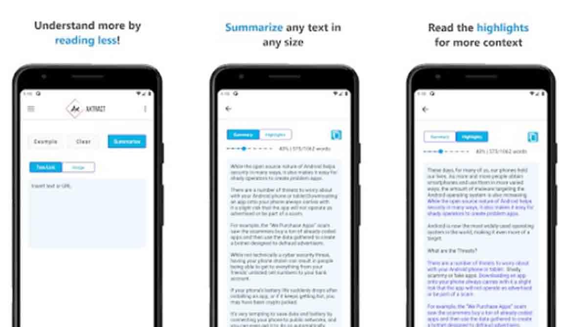 Resumen y Analisis de Texto app resumir móvil