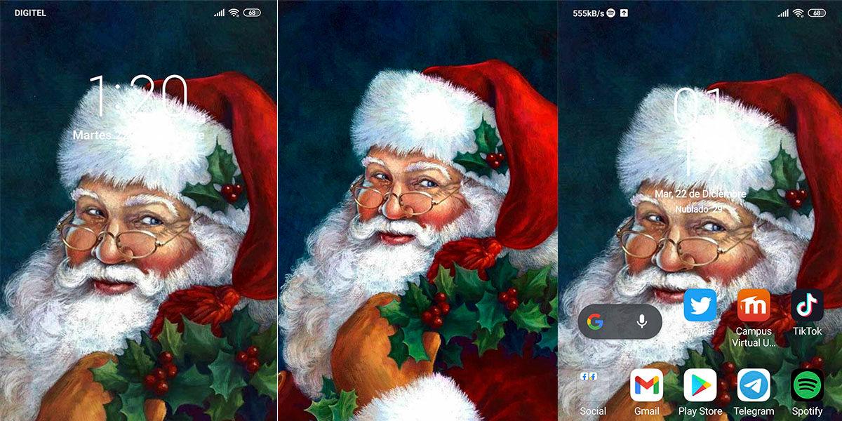 Retrato de Papá Noel