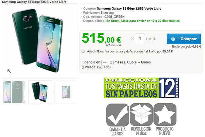 S6 Edge más barato