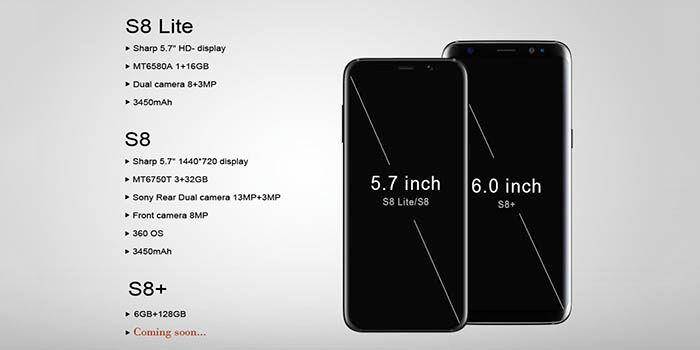 S8 Lite comparativa
