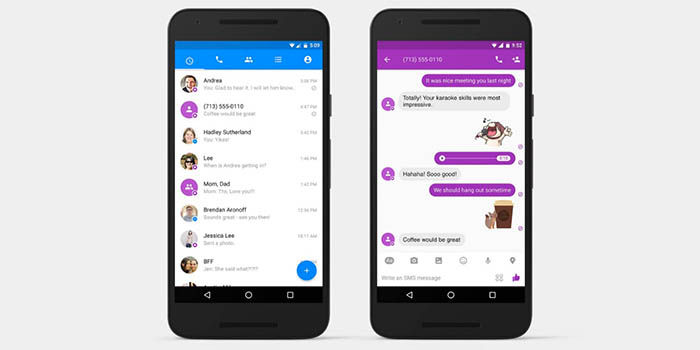 SMS en Facebook Messenger